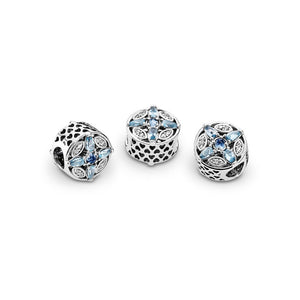 PANDORA Patterns of Frost Charm, Multi-Colored Crystal & Clear CZ