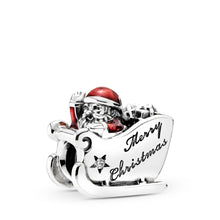 Load image into Gallery viewer, Pandora Sleighing Santa, Translucent Red Enamel