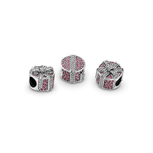 Pandora Shimmering Gift Charm, Red & Clear CZ