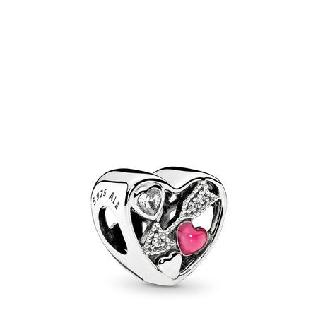 Pandora Struck By Love, Magenta Enamel & Clear CZ