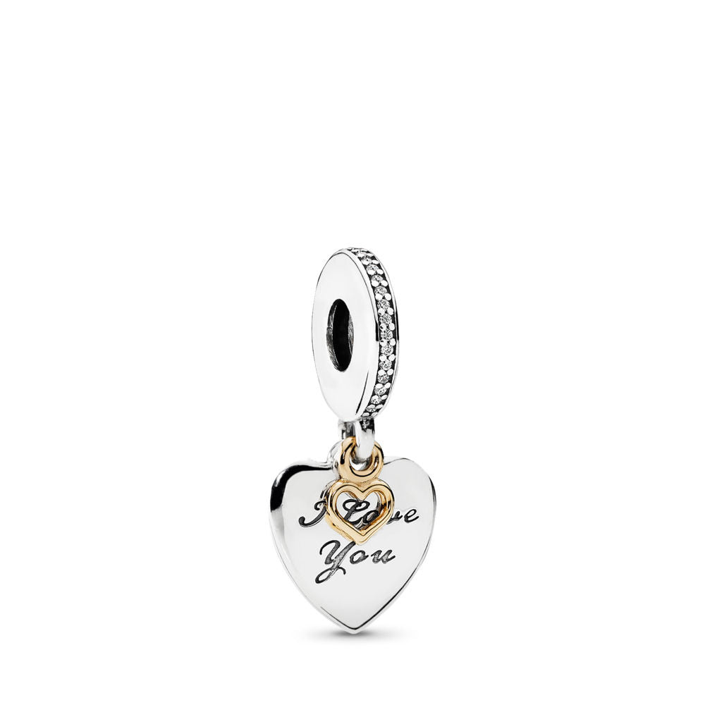 PANDORA Love You Forever Dangle Charm, Clear CZ