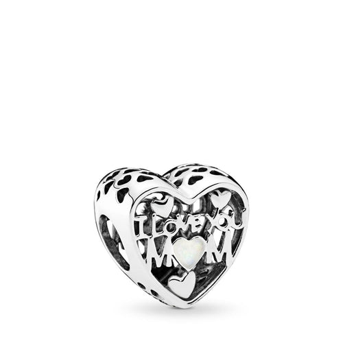Pandora Love for Mother Charm, Silver Enamel