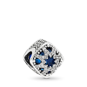 Pandora Glacial Beauty Charm, Swiss Blue Crystals & Clear CZ