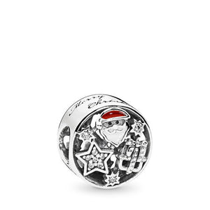 Pandora Christmas Joy Charm, Mixed Enamel & Clear CZ