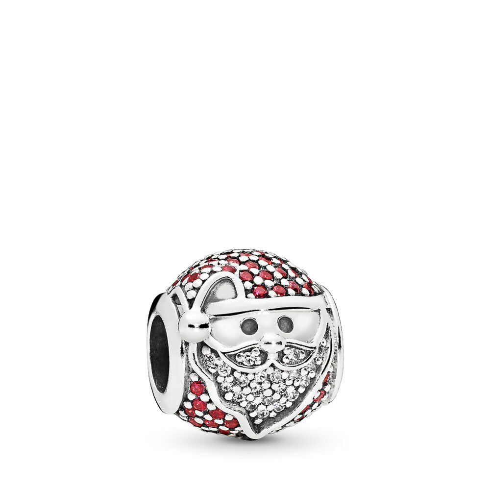 Pandora Sparkling Jolly Santa Charm, Red & Clear CZ