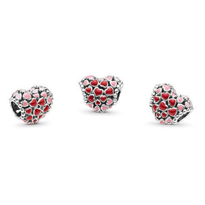 Pandora Red & Pink Hearts Charm