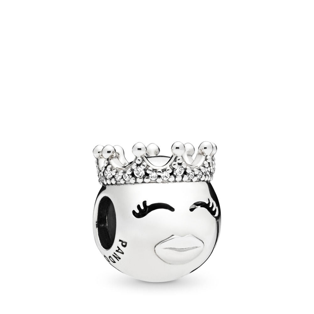 Pandora Princess Charm, Clear CZ