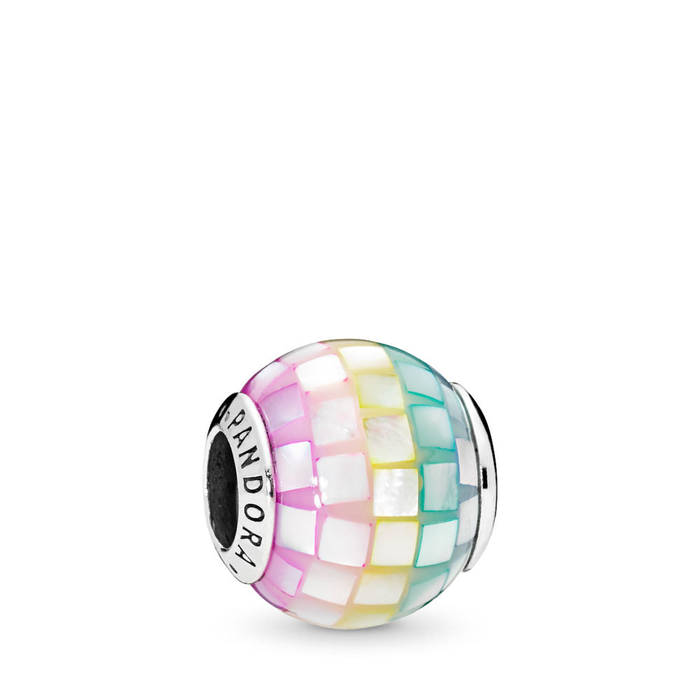 Pandora Multi-Color Mosaic Charm, Multi-Colored CZ