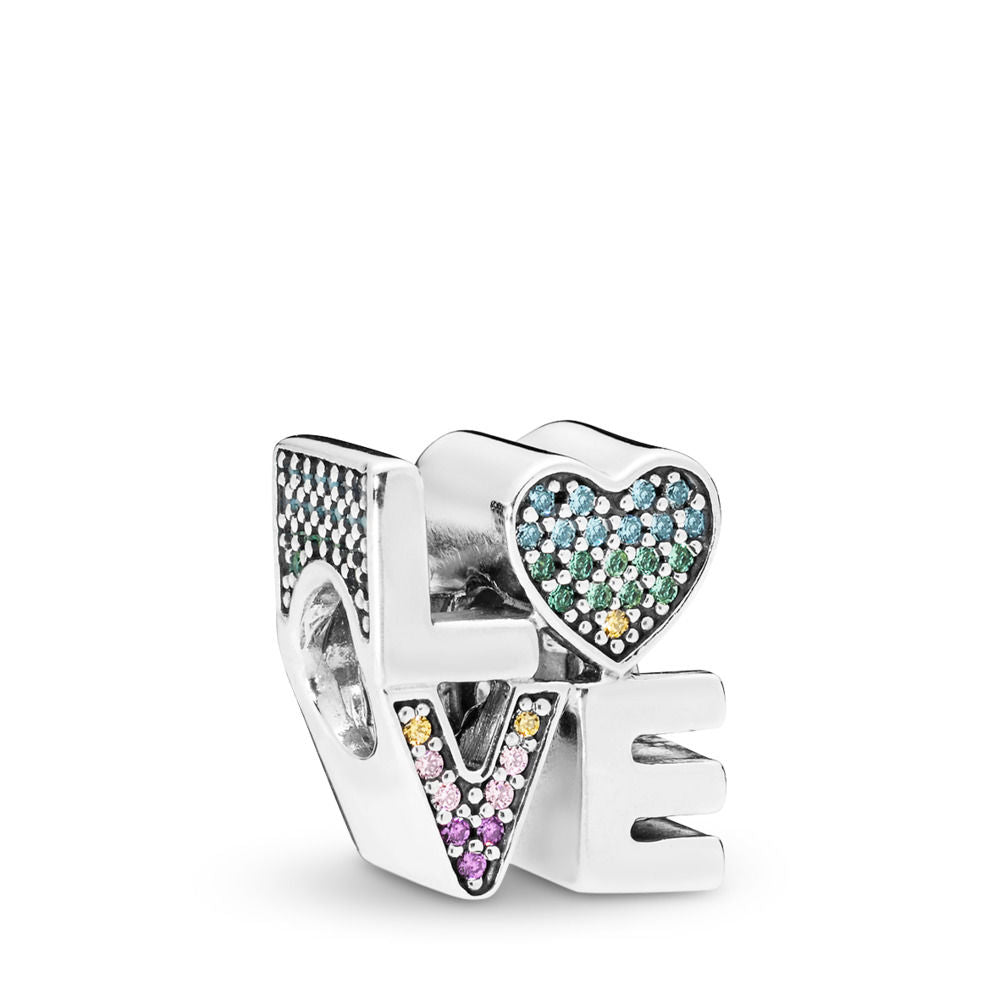 Pandora Multi-Color Love Charm, Multi-Colored CZ