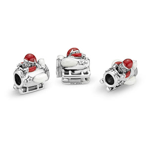 Pandora Santa in Space Charm, Clear CZ & Multi-Colored Enamel