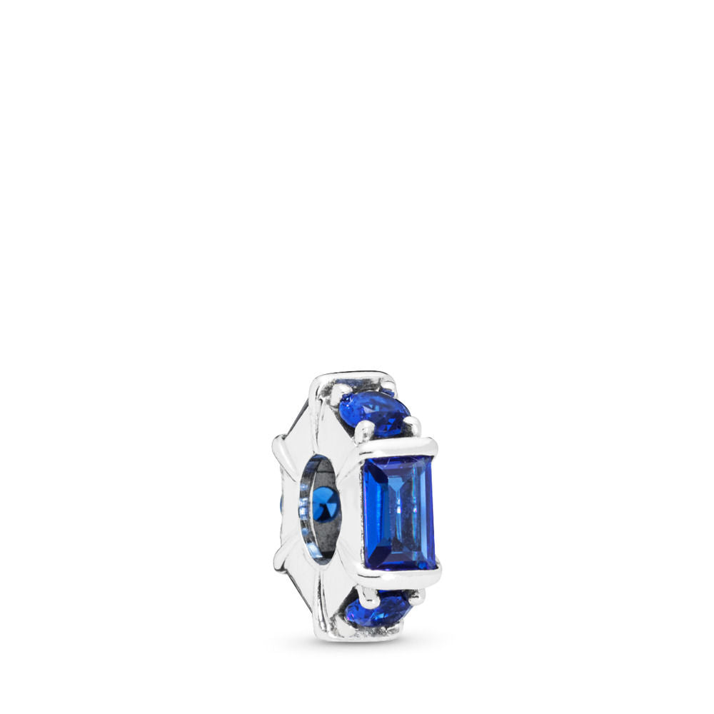 Pandora Ice Sculpture Spacer, Blue Crystal
