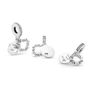 Pandora Ice Carving Dangle Charm, Clear CZ