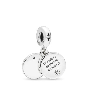Pandora Perfect Christmas Dangle Charm, Clear CZ & White Enamel