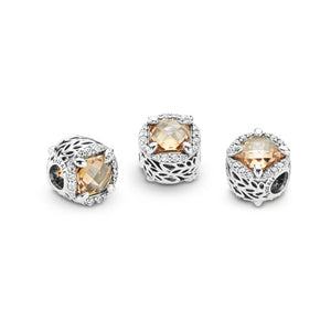 Pandora Radiant Grains of Energy Charm, Clear & Golden Colored CZ