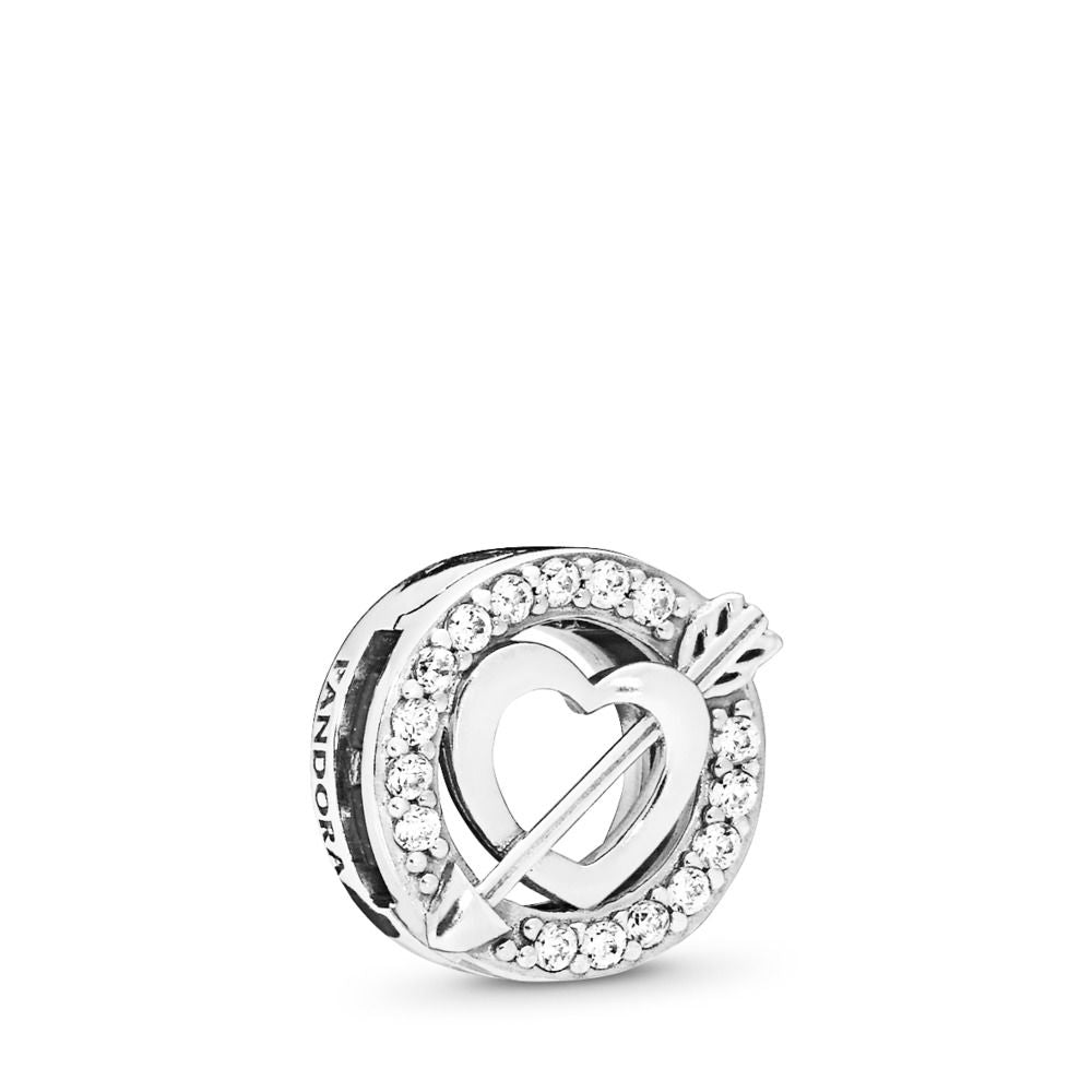 PANDORA Reflexion Asymmetric Heart & Arrow Charm, Clear CZ