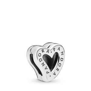 PANDORA Reflexions Asymmetric Heart of Love Clip Charm, Mixed Enamel