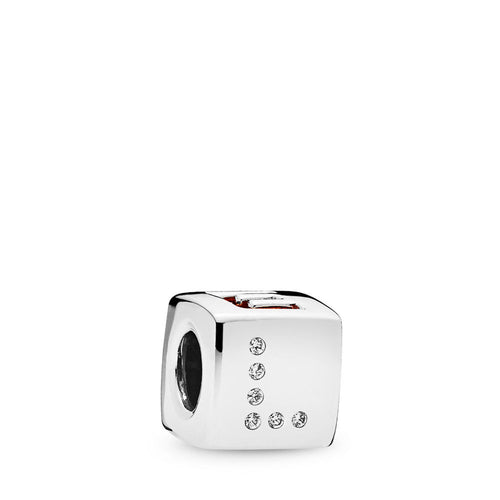 Pandora Love Dice Charm, Red & Clear CZ