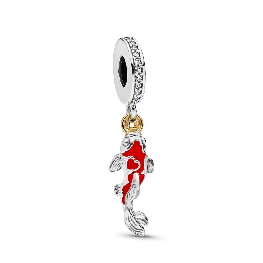 Pandora Good Fortune Carp Charm, Clear CZ & Mixed Enamel