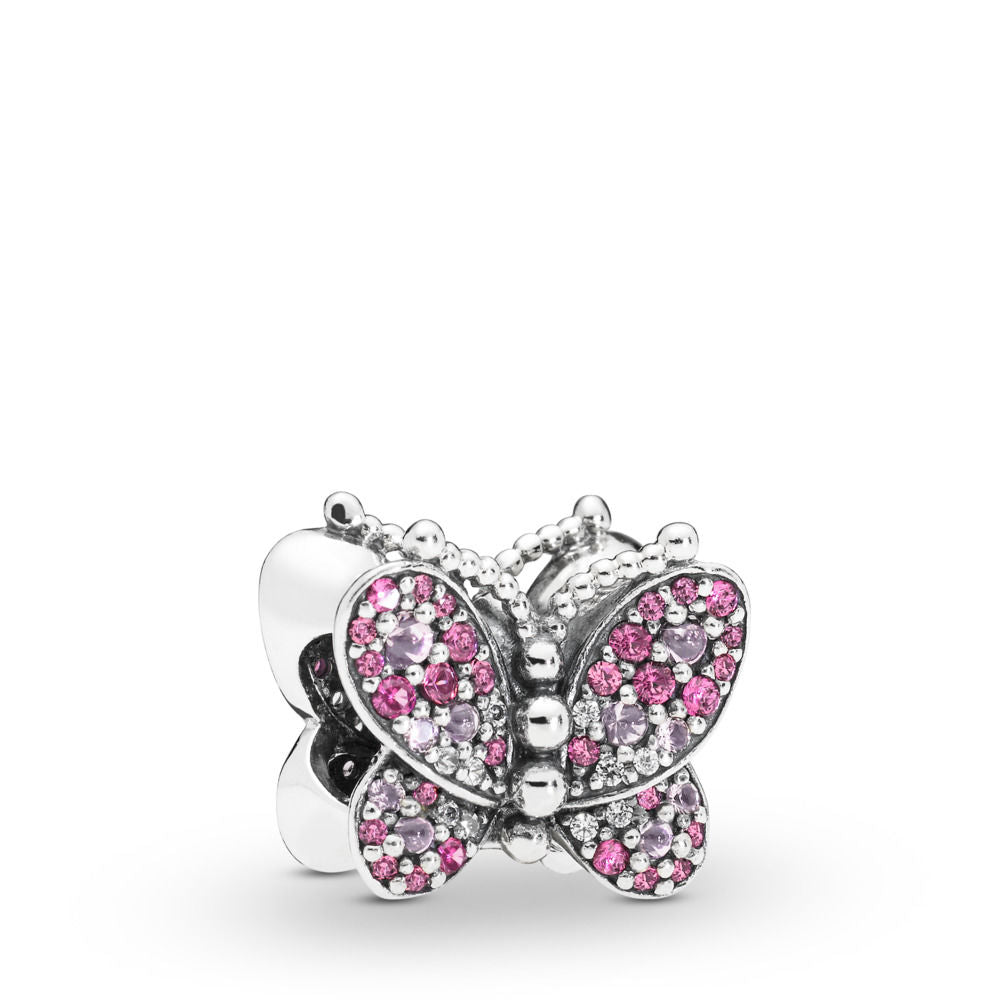 PANDORA Dazzling Pink Butterfly Charm