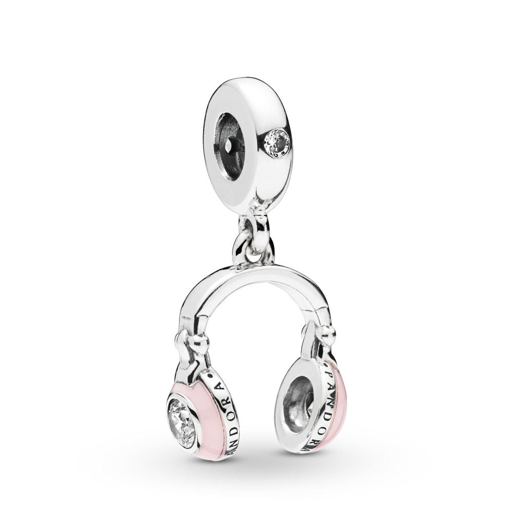 Pandora Pink Headphones Dangle Charm