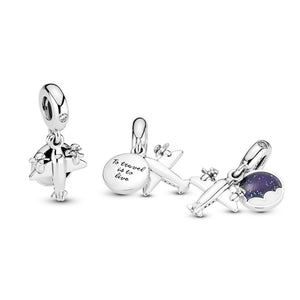 Pandora Propeller Plane Dangle Charm