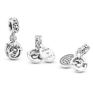 PANDORA Knotted Heart Dangle Charm