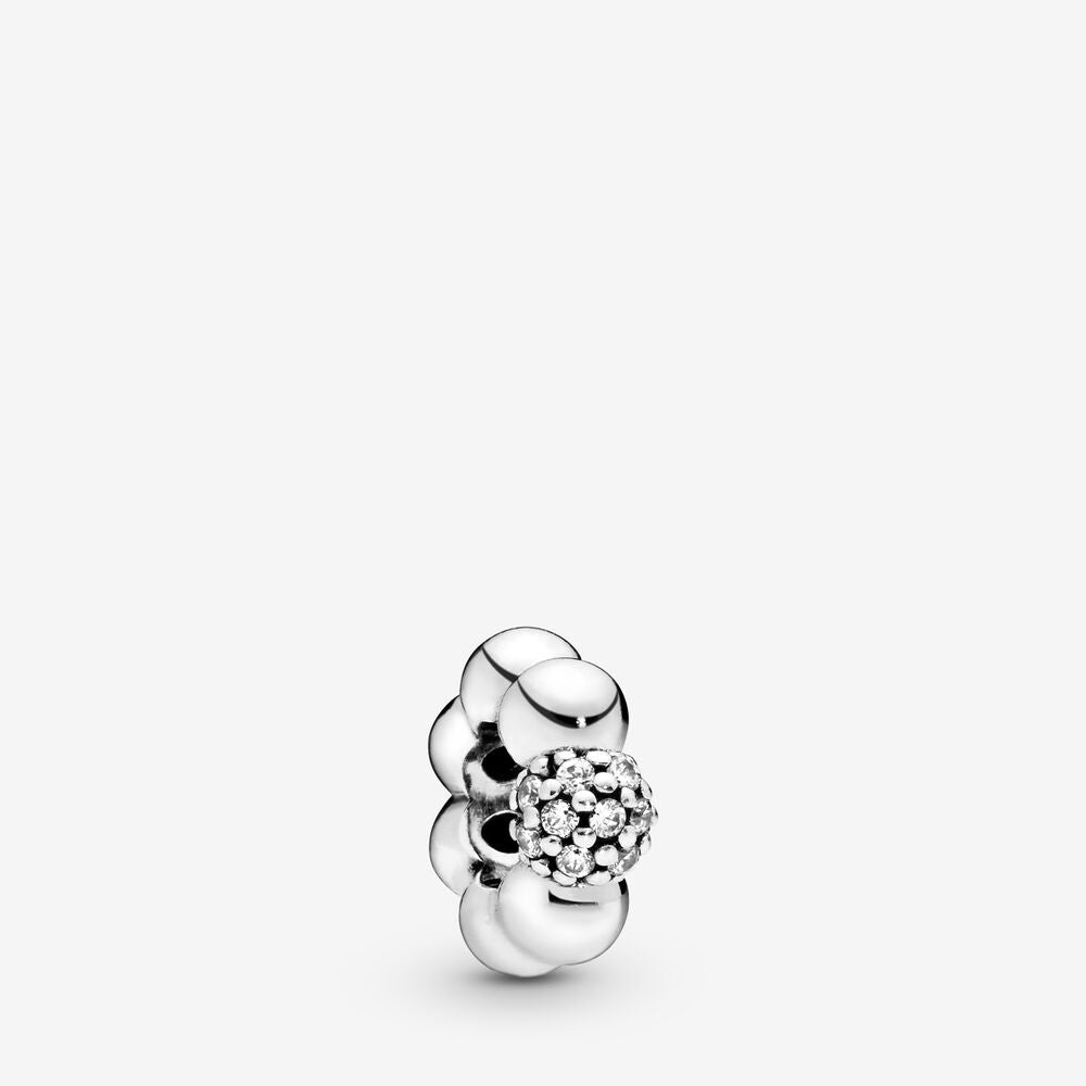 Polished & Pavé Bead Spacer Charm