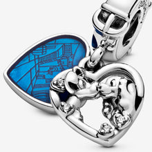 Load image into Gallery viewer, Disney Lady and the Tramp Heart Dangle Charm