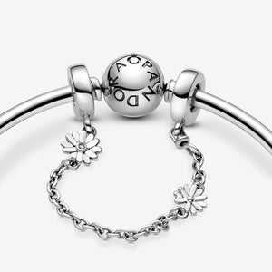 Daisy Flower Safety Chain Charm