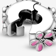 Load image into Gallery viewer, Pink Daisy Flower Clip Charm