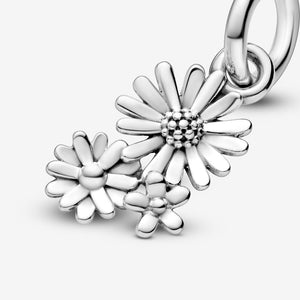 Daisy Flower Bouquet Dangle Charm