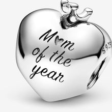 Load image into Gallery viewer, Mom Of The Year Heart Charm