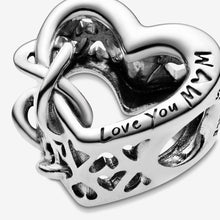 Load image into Gallery viewer, Love You Mum Infinity Heart Charm