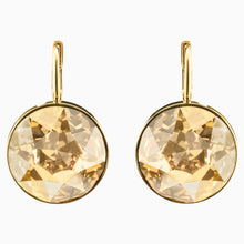 Load image into Gallery viewer, BELLA PIERCED EARRINGS, BROWN, GOLD-TONE PLATED