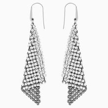 Load image into Gallery viewer, FIT PIERCED EARRINGS, GRAY, RHODIUM PLATED