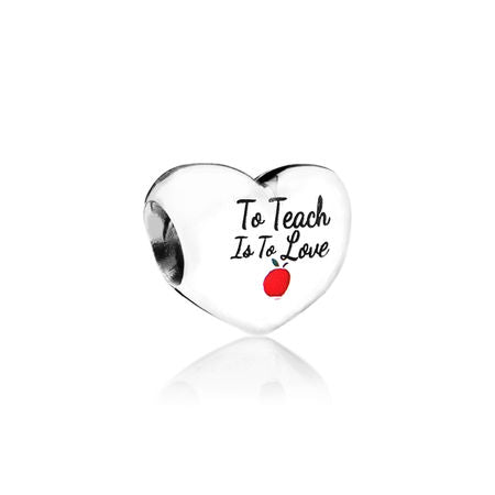 Pandora To Teach Is To Love Heart Charm
