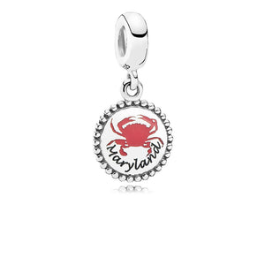 PANDORA Maryland Crab Dangle Charm, Mixed Enamel