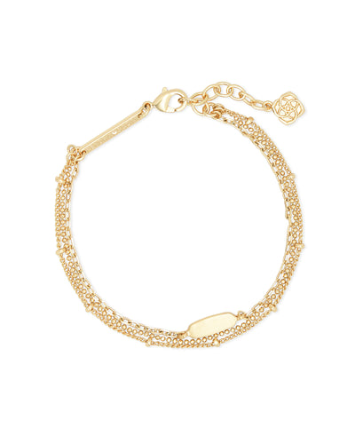 Fern Multi Strand Bracelet in Gold