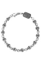 Load image into Gallery viewer, Round Skull Chain Bracelet
