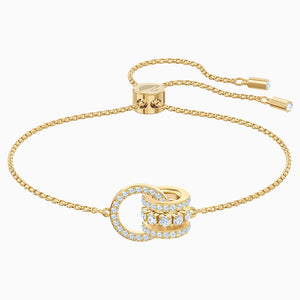 FURTHER BRACELET, WHITE, GOLD-TONE PLATED