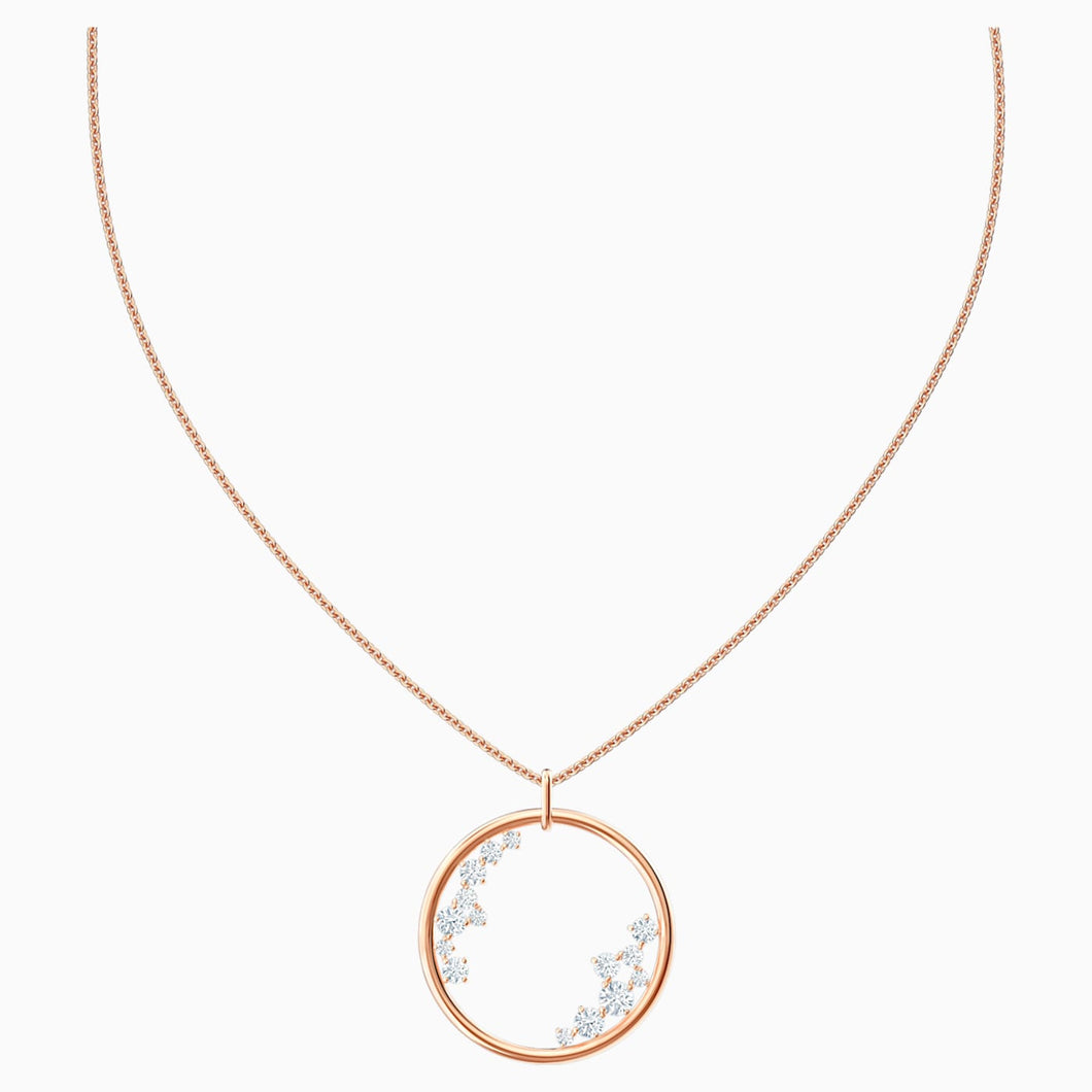 NORTH PENDANT, WHITE, ROSE-GOLD TONE PLATED