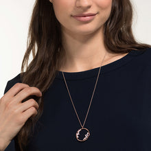 Load image into Gallery viewer, NORTH PENDANT, WHITE, ROSE-GOLD TONE PLATED