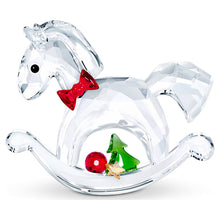 Load image into Gallery viewer, Swarovski Rocking Horse – Happy Holidays
