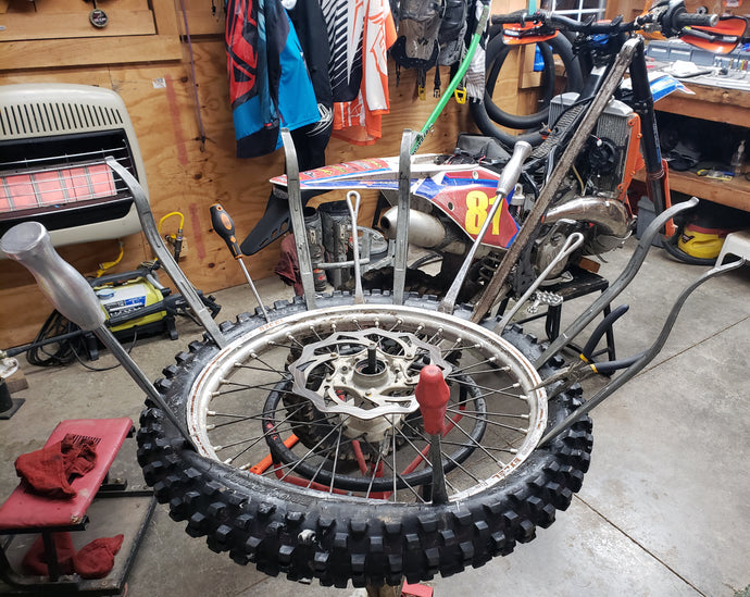 The Tools and Tips to Changing Mousse's on a Dirt Bike Tire
