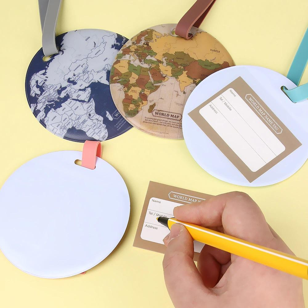 WORLD MAP LUGGAGE TAG - The globe attached to your bag – happyalpaca