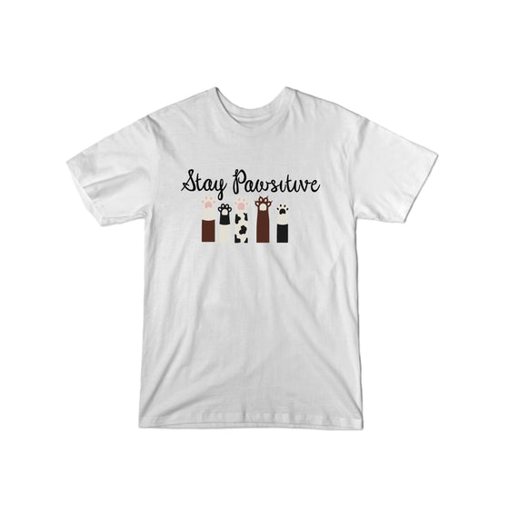 Stay Pawsitive (Paws Up) T-Shirt