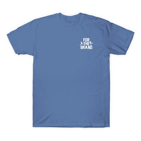 For The Brand Left Chest T-shirt - Light Blue