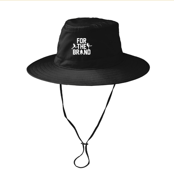 For The Brand Embroidered Bucket Hat - Black