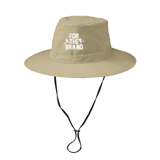 For The Brand Embroidered Bucket Hat - Tan