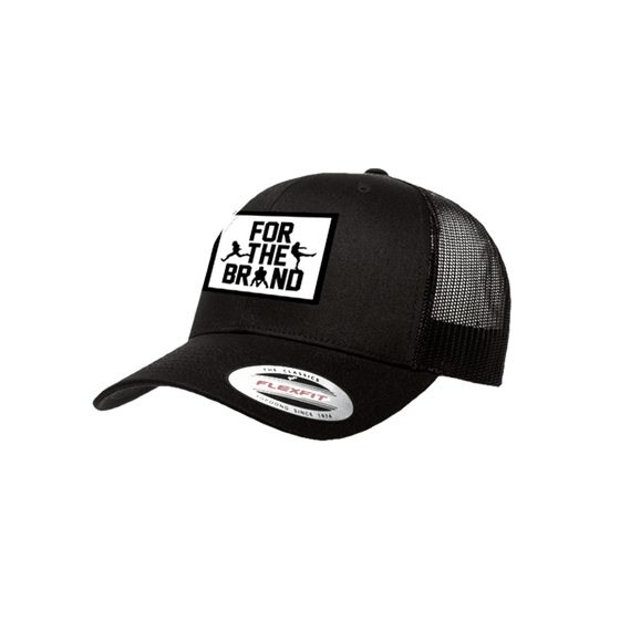 For The Brand Patch Flexfit Trucker Hat - Black